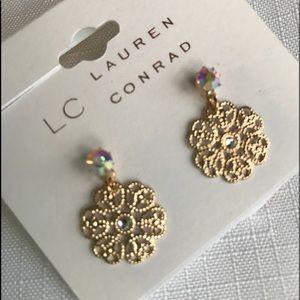 Lauren Conrad gold-tone drop earrings. NWT